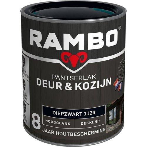 Rambo Pantserlak Deur & Kozijn Hoogglans Dekkend - 750 ml Diepzwart
