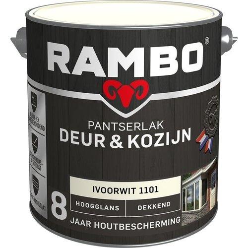 Rambo Pantserlak Deur & Kozijn Hoogglans Dekkend - 2,5 liter Ivoorwit