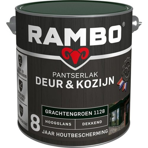 Rambo Pantserlak Deur & Kozijn Hoogglans Dekkend - 2,5 liter Grachtengroen