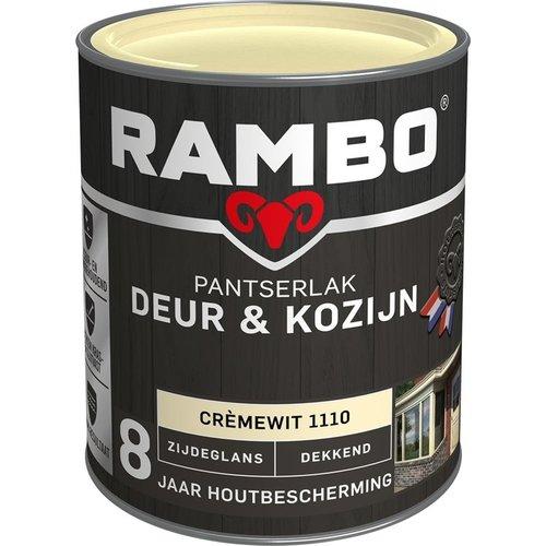 Rambo Pantserlak Deur & Kozijn Zijdeglans Dekkend - 750 ml Crèmewit