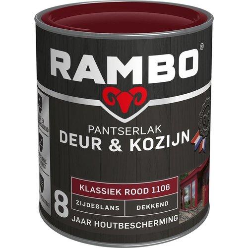 Rambo Pantserlak Deur & Kozijn Zijdeglans Dekkend - 750 ml Klassiek rood