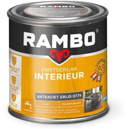 Rambo Pantserlak Interieur Transparant Mat - 250 ml Antraciet Grijs