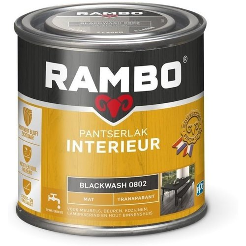 Rambo Pantserlak Interieur Transparant Mat - 750 ml Blackwash