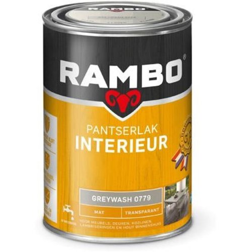 Rambo Pantserlak Interieur Transparant Mat - 1,25 liter Greywash