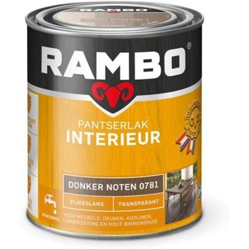 Rambo Pantserlak Interieur Transparant Zijdeglans - 750 ml Donker noten