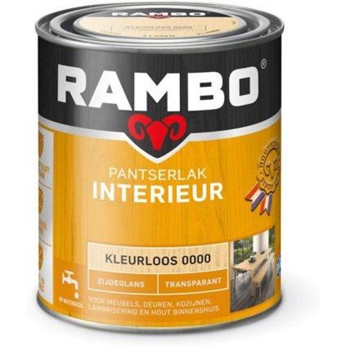 Rambo Pantserlak Interieur Transparant Zijdeglans - 750 ml Blank