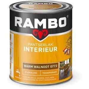 Rambo Pantserlak Interieur Transparant Zijdeglans - 750 ml Warm walnoot