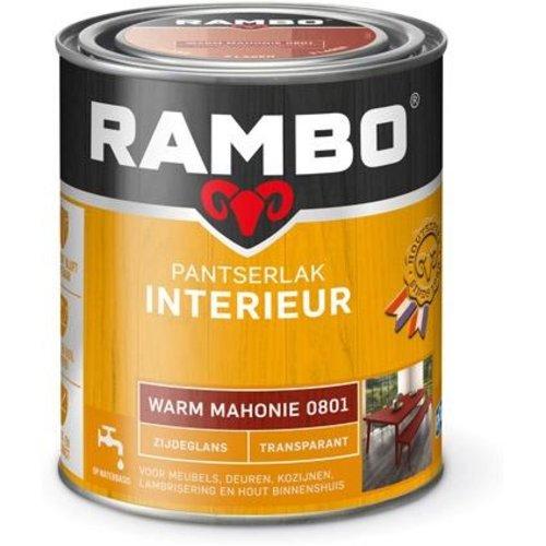 Rambo Pantserlak Interieur Transparant Zijdeglans - 750 ml Warm mahonie