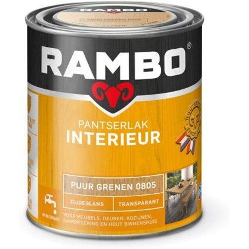 Rambo Pantserlak Interieur Transparant Zijdeglans - 750 ml Puur grenen