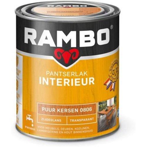 Rambo Pantserlak Interieur Transparant Zijdeglans - 750 ml Puur kersen