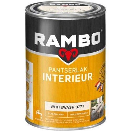 Rambo Pantserlak Interieur Transparant Zijdeglans - 1,25 liter Whitewash