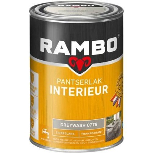 Rambo Pantserlak Interieur Transparant Zijdeglans - 1,25 liter Greywash