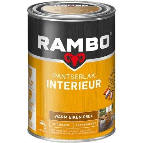 Rambo Pantserlak Interieur Transparant Zijdeglans - 1,25 liter Warm eiken