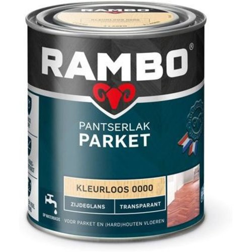 Rambo Pantserlak Parket Transparant Zijdeglans - 750 ml Blank