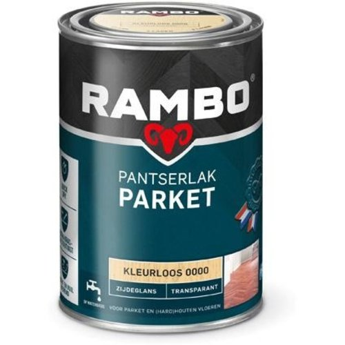 Rambo Pantserlak Parket Transparant Zijdeglans - 1,25 ml Blank