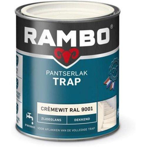 Rambo Pantserlak Trap Dekkend Zijdeglans - 750 ml Cremewit Ral 9001
