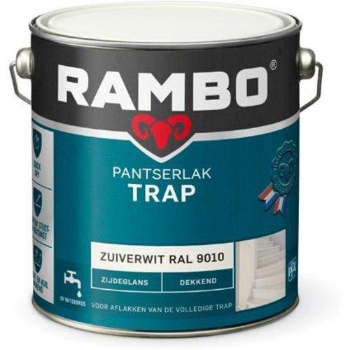 Rambo Pantserlak Trap Dekkend Zijdeglans - 2,5 liter Zuiverwit Ral 9010