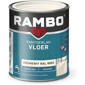 Rambo Pantserlak Vloer Dekkend Zijdeglans - 750 ml Cremewit Ral 9001