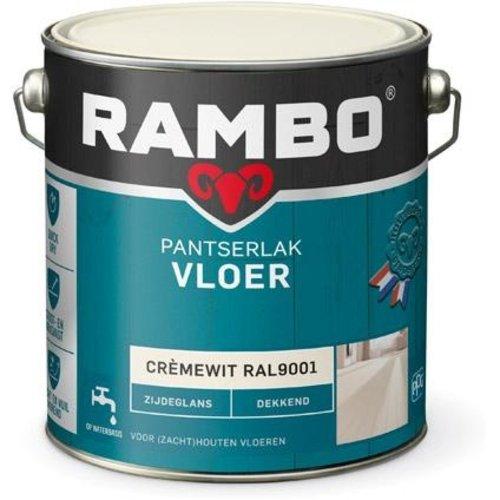 Rambo Pantserlak Vloer Dekkend Zijdeglans - 2,5 liter Cremewit Ral 9001