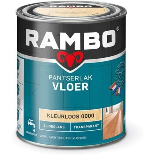 Rambo Pantserlak Vloer Transparant Zijdeglans - 750 ml Blank