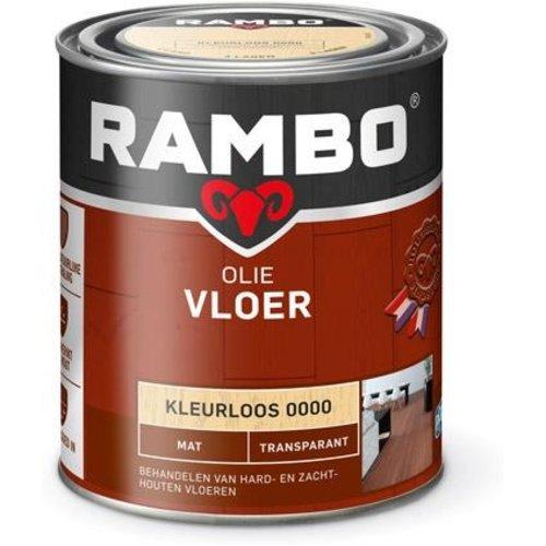 Rambo Vloer Olie Transparant Mat - 750 ml Blank