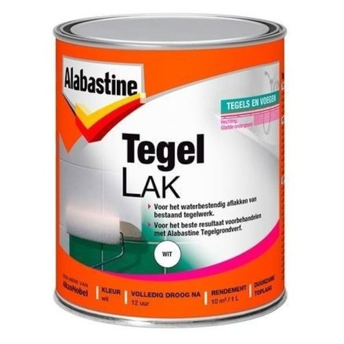 Alabastine Tegellak Wit 1 Component - 1 liter