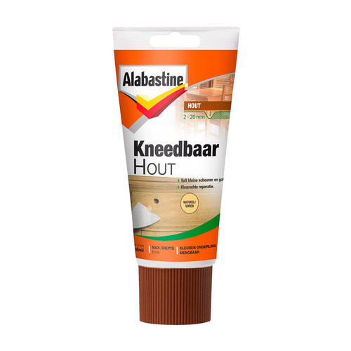 Alabastine Kneedbaar Hout - 75 gram Naturel