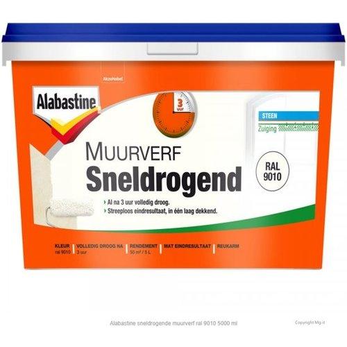 Alabastine Sneldrogende Muurverf - 5 liter Wit
