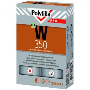 Polyfilla Pro W350 2K Sneldrogende Houtreparatiepasta