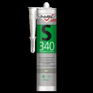 Polyfilla Pro S340 Buitenvoeg Reparatiepasta - 310 ml Grey