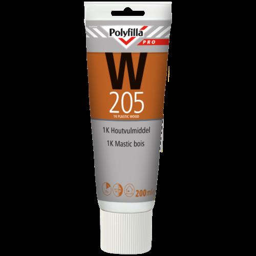Polyfilla Pro W205 1K Houtvulmiddel - 200 ml