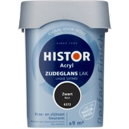 Histor Acryl Zijdeglans Lak - 750 ml Zwart