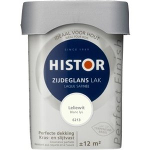 Histor Perfect Finish Zijdeglans Lak - 750 ml Leliewit