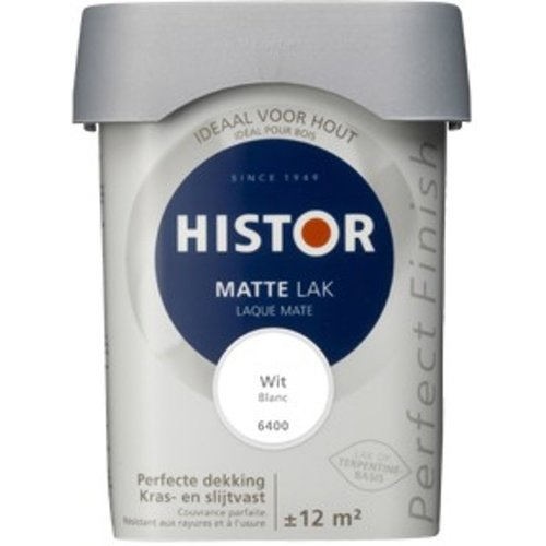 Histor Perfect Finish Matte Lak - 750 ml Wit