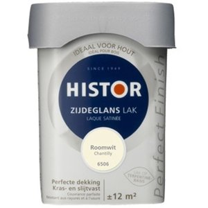 Histor Perfect Finish Zijdeglans Lak - 750 ml Roomwit