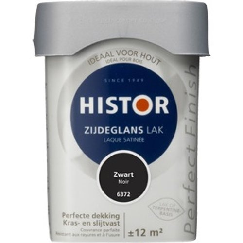 Histor Perfect Finish Zijdeglans Lak - 750 ml Zwart