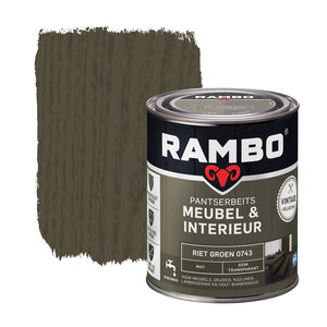 Rambo Pantserbeits Meubel & Interieur Mat 750 ml - Riet Groen