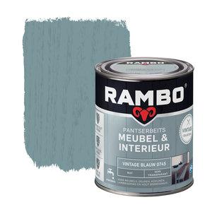 Rambo Pantserbeits Meubel & Interieur Mat 750 ml - Vintage Blauw