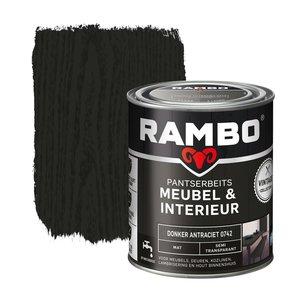 Rambo Pantserbeits Meubel & Interieur Mat 750 ml - Donker Antraciet
