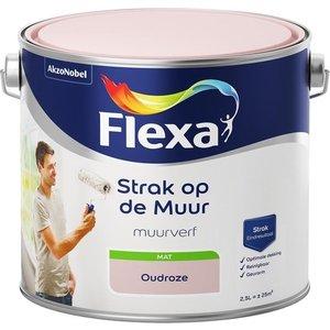 Flexa Strak op de muur Muurverf - Mat - 2,5 liter - Oudroze