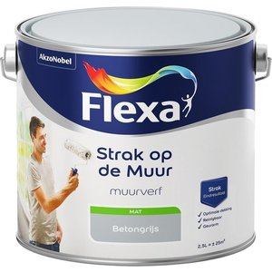 Flexa Strak op de muur Muurverf - Mat - 2,5 liter - Beton