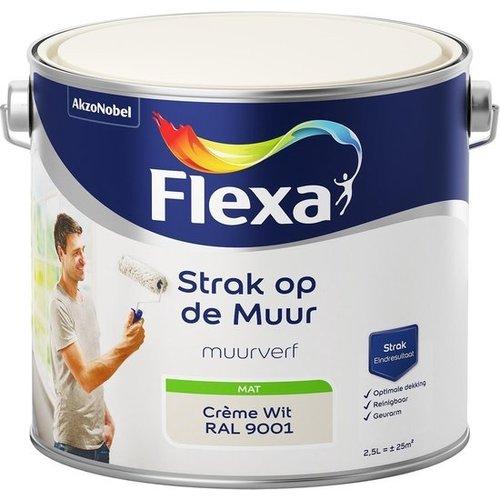 Flexa Strak op de muur Muurverf - Mat - 2,5 liter - Creme Wit / Ral 9001
