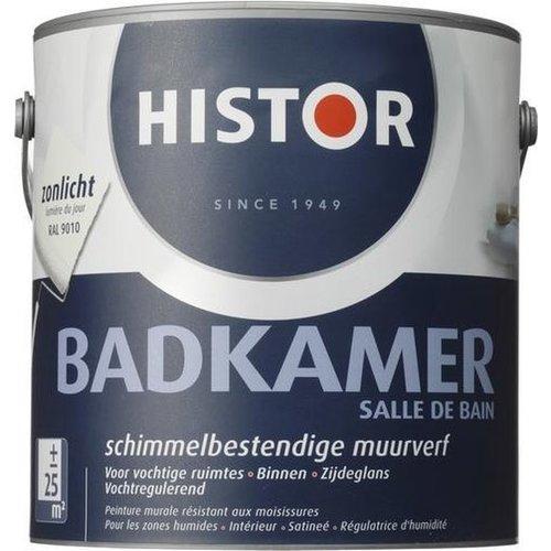 Histor Badkamer Muurverf - 2,5 liter - Zonlicht