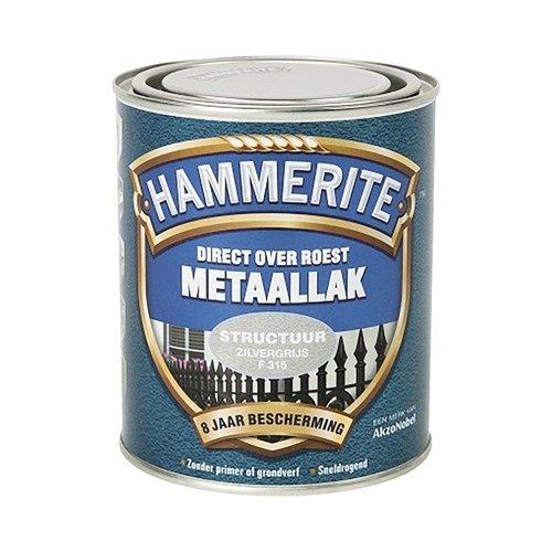 Hammerite Metaallak Direct over Roest Structuur - F315 Zilvergrijs