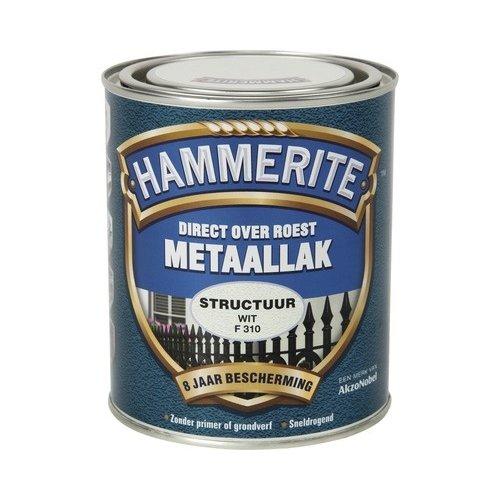 Hammerite Metaallak Direct over Roest Structuur - F310 Wit