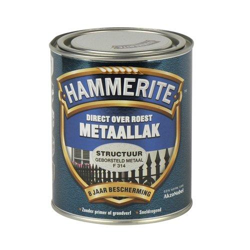 Hammerite Metaallak Direct over Roest Structuur - F314 Geborsteld Metaal