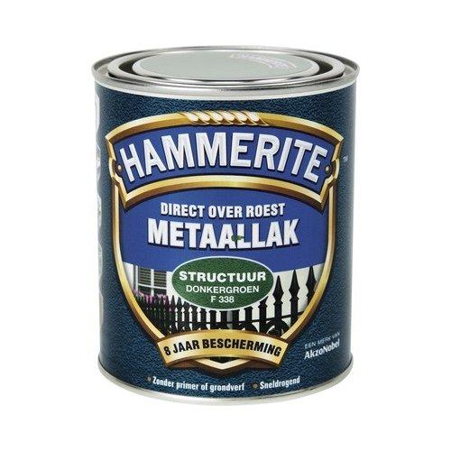 Hammerite Metaallak Direct over Roest Structuur - F338 Donkergroen
