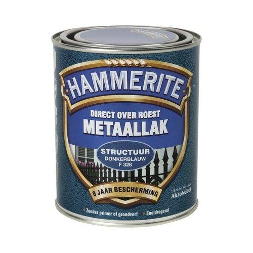 Hammerite Metaallak Direct over Roest Structuur - F328 Donkerblauw