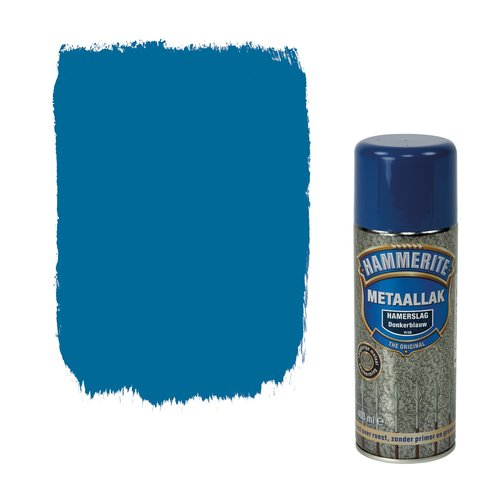 Hammerite Metaallak Direct over Roest Hamerslag Spuitbus - 400 ml H128 Donkerblauw