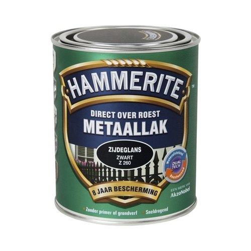 Hammerite Metaallak Direct over Roest Zijdeglans - Z260 Zwart